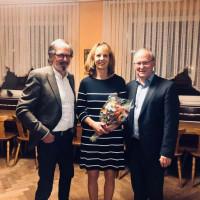 SPD Ortsvorstand W. Enderle, Bürgermeisterkandidatin Ulla Schwarte, FW Ortsvorstand H. Jäger